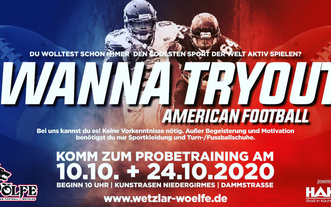 TRYOUTS / PROBETRAINING